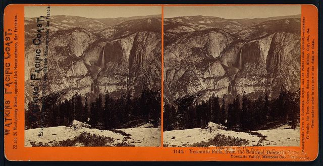 Yosemite Falls, from the Sentinel Dome, Yosemite Valley, Mariposa Co.