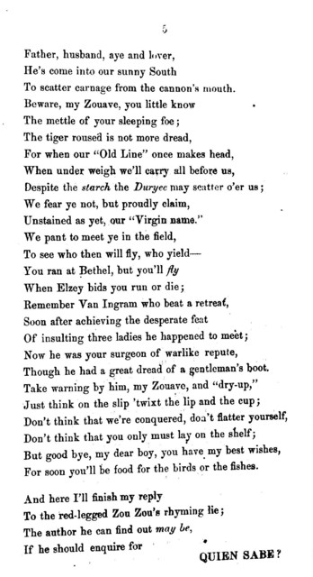 A. D. 1862, or The volunteer Zouave in Baltimore ... Baltimore: J. Davis & Co., 1862