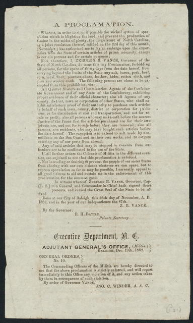 A Proclamation. Whereas, in order to stop, if possible the wicked system of speculation.