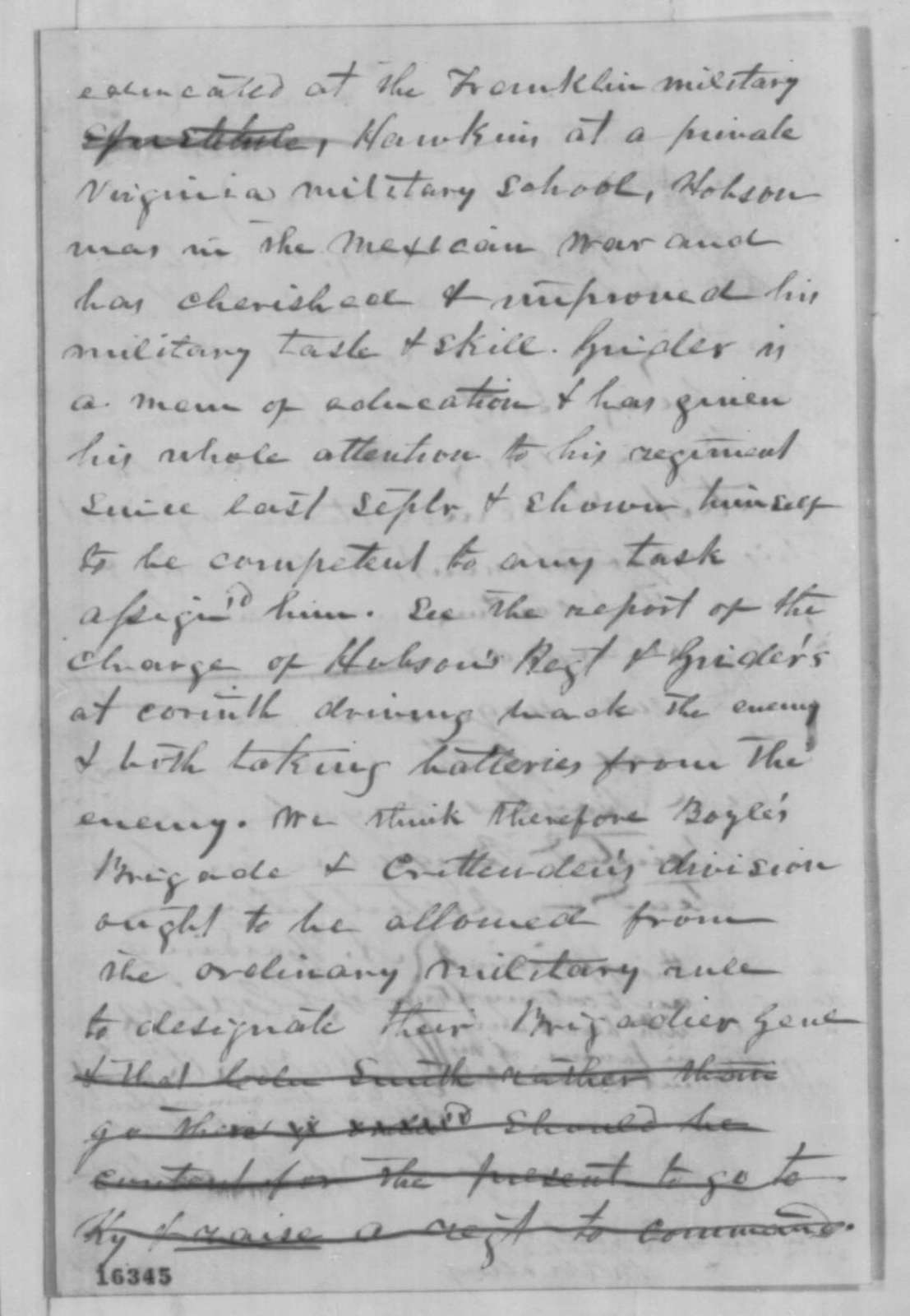"""Aaron Harding, et al."" to Abraham Lincoln, Friday, June 06, 1862  (Petition recommending promotion of Col. Smith)"