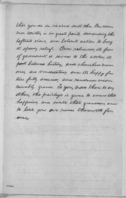 Abraham Lincoln, Saturday, July 12, 1862  (Address to Border State Representatives)