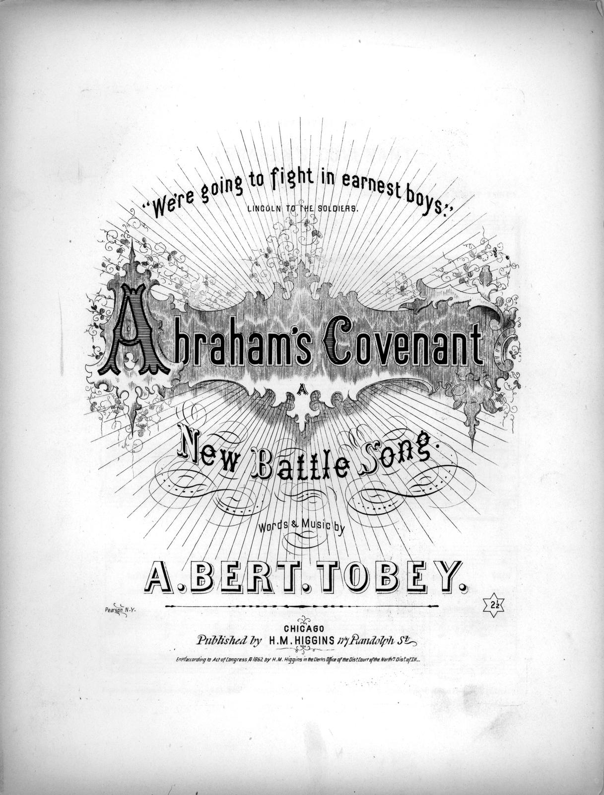 Abraham's covenant: a new battle song words & music by A. Bert. Tobey.