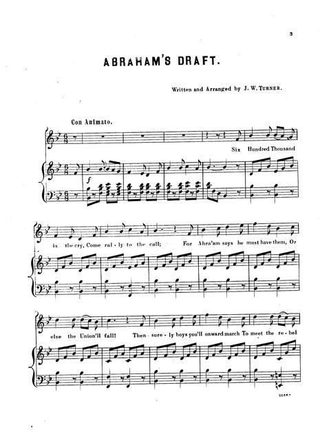 Abraham's draft, 600,000 more: song & chorus written & arranged by J.W. Turner.