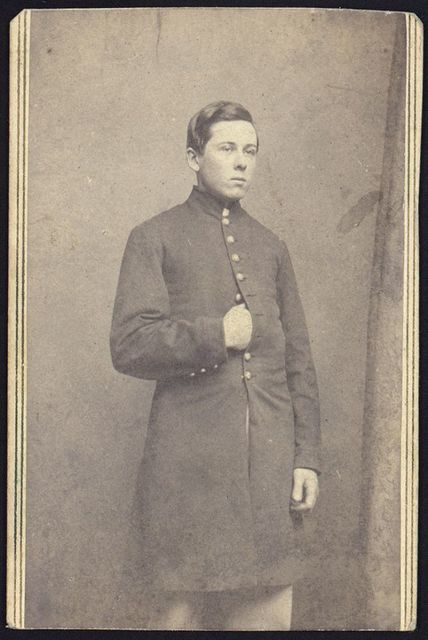 [A.C. Slitson (Franklin?), three-quarter length studio portrait, standing, facing slightly right, wearing uniform]