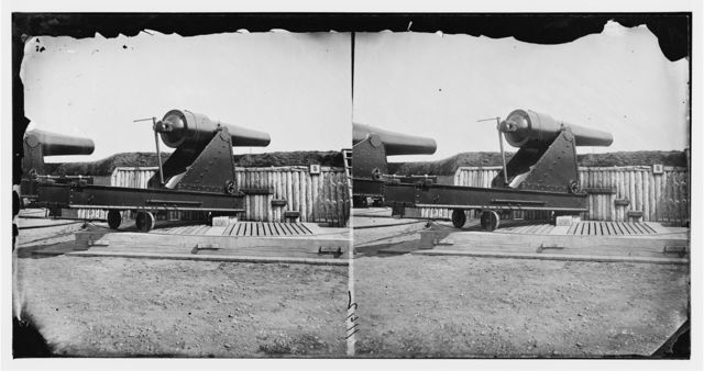 Alexandria, Virginia (vicinity). 200 pdr. Parrott rifle gun in Battery Rodgers