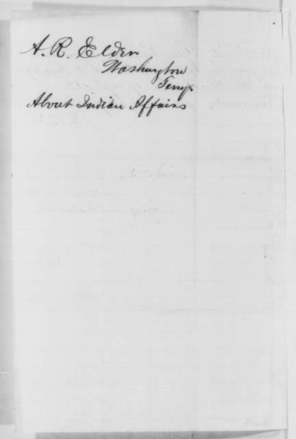 Alfred R. Elder to Abraham Lincoln, Thursday, December 18, 1862  (Indian affairs in Washington Territory)