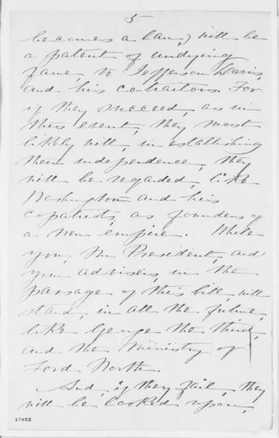 Anna Ella Carroll to Abraham Lincoln, Monday, July 14, 1862  (Opposes Confiscation Act)