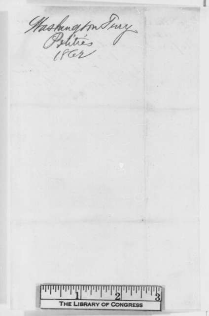 Anson G. Henry to Abraham Lincoln, Monday, February 03, 1862  (Situation in Washington Territory)