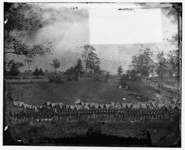 Antietam, Maryland. 93rd New York Infantry, headquarters Army of the Potomac