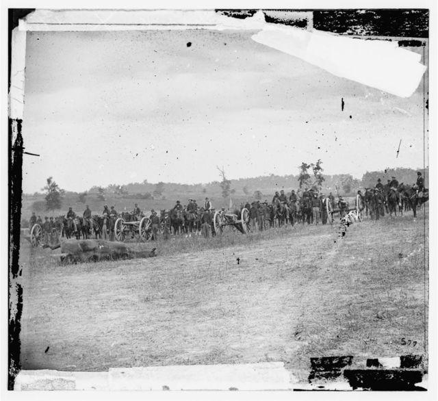 """Antietam, Maryland. Captain J.M. Knap's Penn. Independent Battery """"E"""" Light Artillery"""