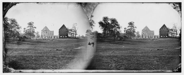 Antietam, Maryland. Real's barn, burned by the bursting of a Federal shell at the battle of Antietam