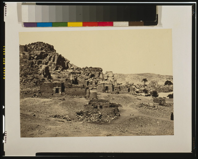 Antiquities at the island of Biggeh / Frith 1857.