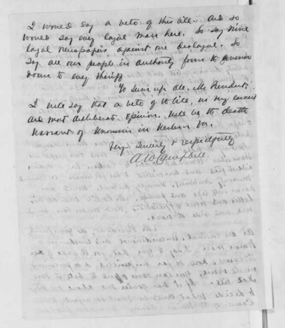 Archibald W. Campbell to Abraham Lincoln, Wednesday, December 31, 1862  (Admission of West Virginia)
