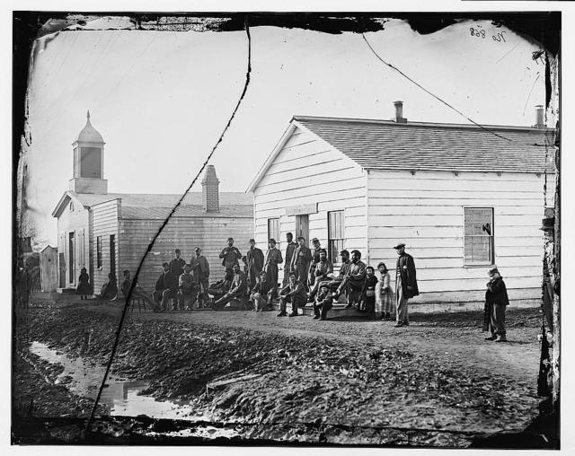 Band Quarters of 9th or 10th Veteran Reserve Corp. Wash. D.C., April 1865.