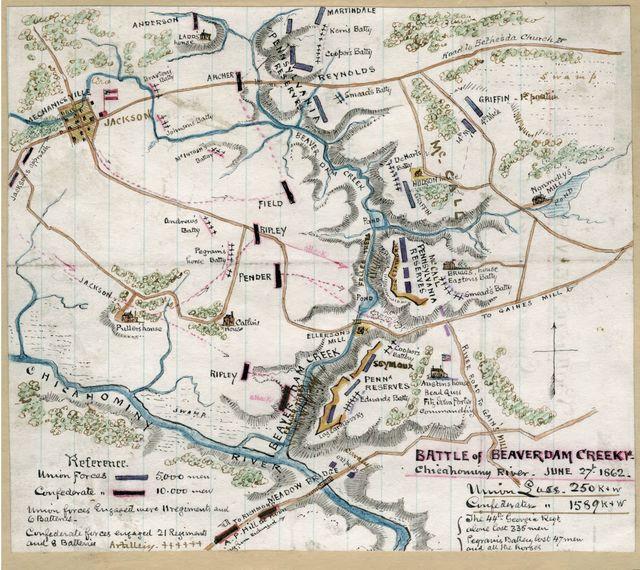 Battle of Beaverdam Creek Va., Chickahominy River, June 27th 1862