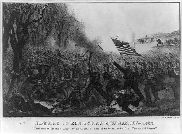 Battle of Mill Spring, Ky. Jan 19th 1862