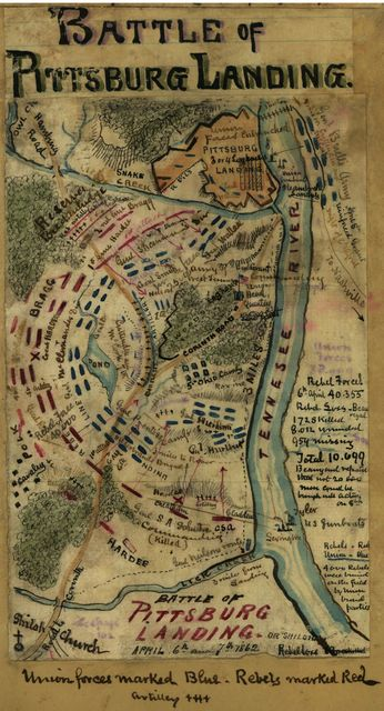 Battle of Pittsburg Landing or Shiloh April 6th and 7th 1862.