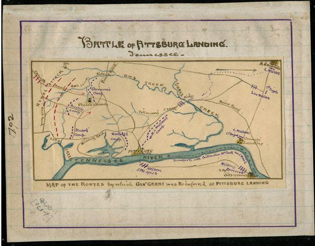 Battle of Pittsburg Landing. Tennessee