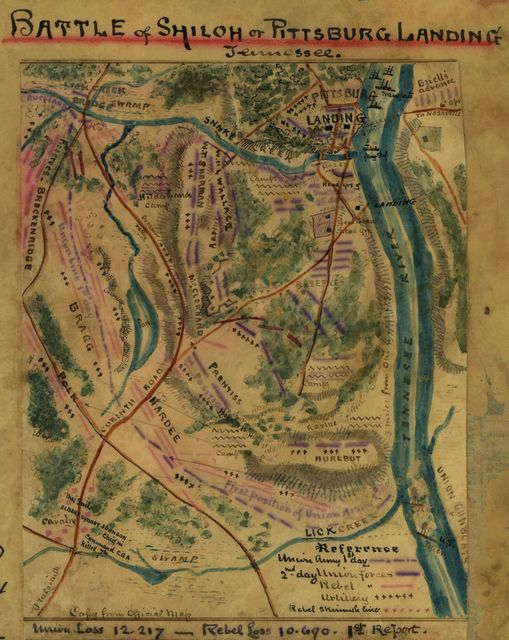 Battle of Shiloh or Pittsburg Landing, Tennessee