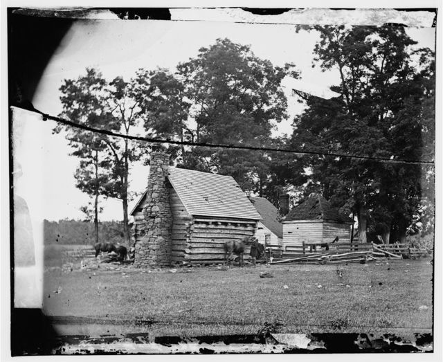 Battlefield of Cedar Mountain House riddled with cannon balls in which Gen. Winder was killed