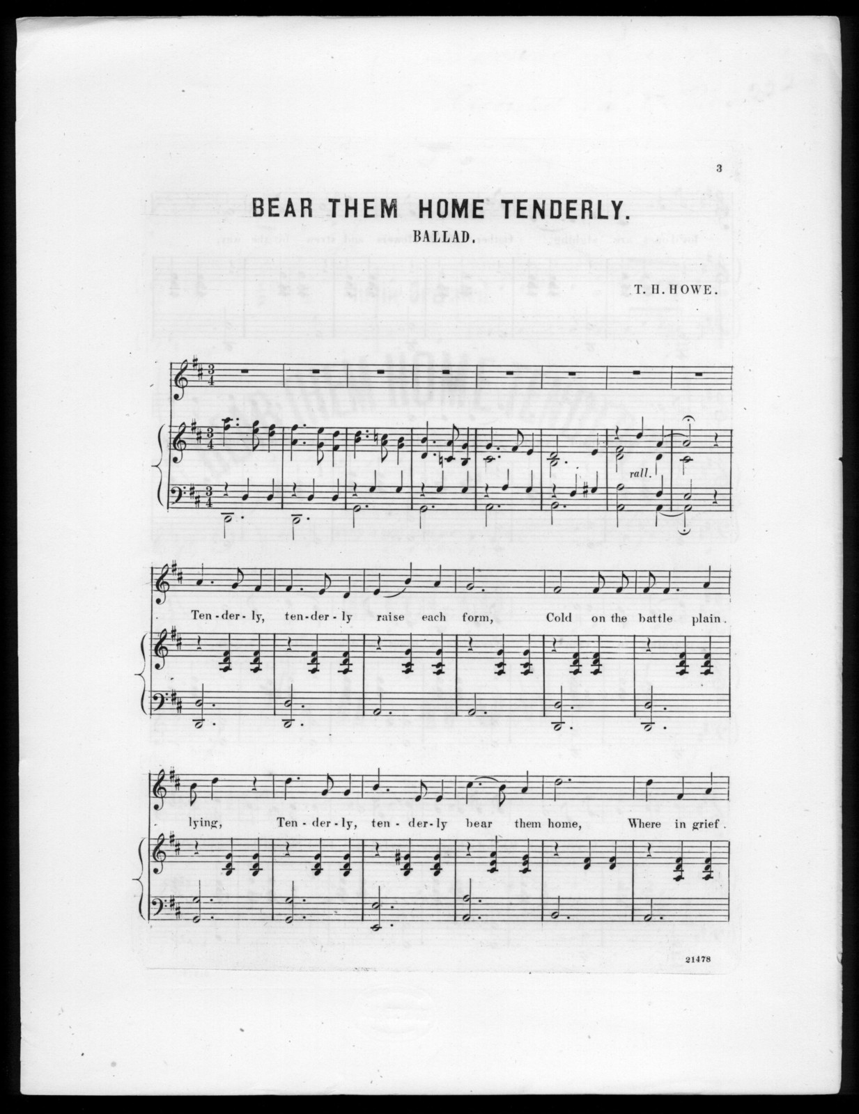 Bear them home tenderly