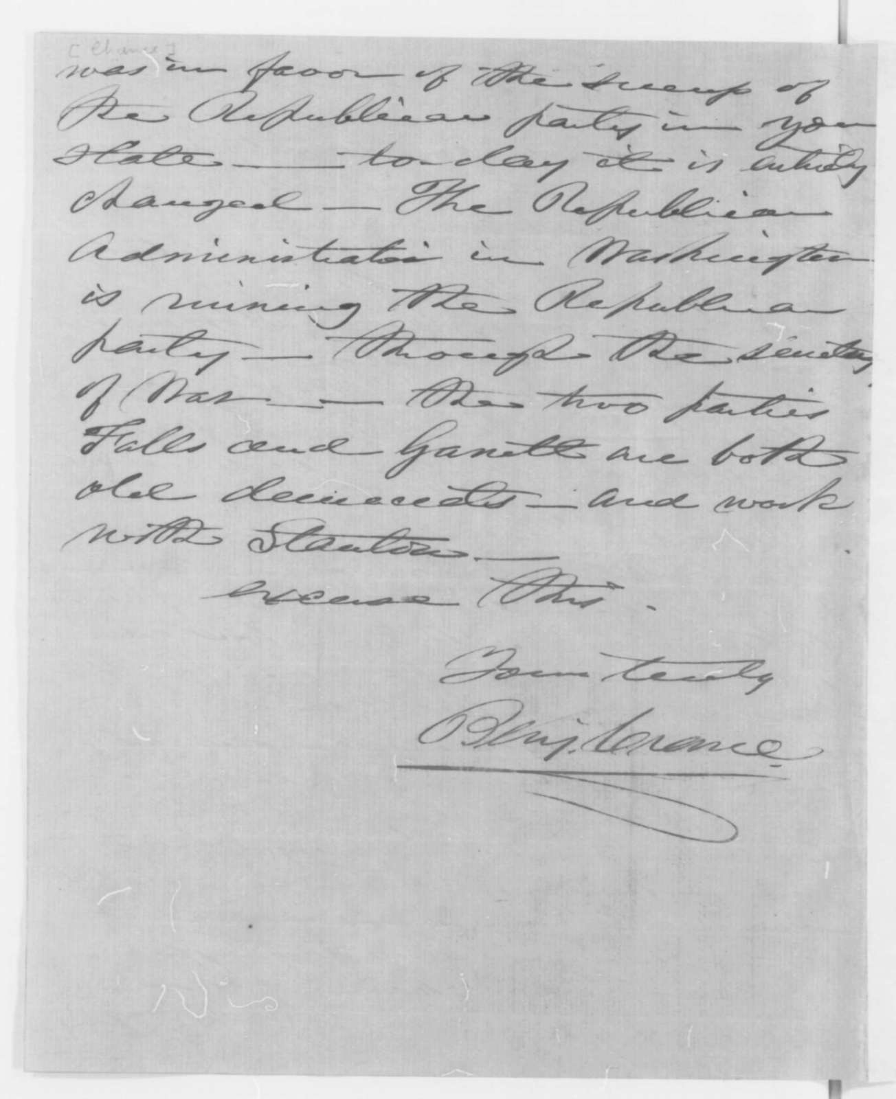 Benjamin Crence to Elliot C. Cowdin, Wednesday, October 29, 1862  (Conduct of General Wool)