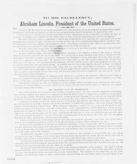 Bernard Kock to Abraham Lincoln, Wednesday, October 01, 1862  (Printed Advertisement)