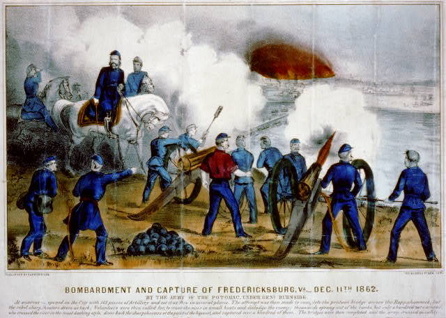 Bombardment and capture of Fredericksburg, Va.-Dec. 11th 1862: By the Army of the Potomac, under Genl. Burnside