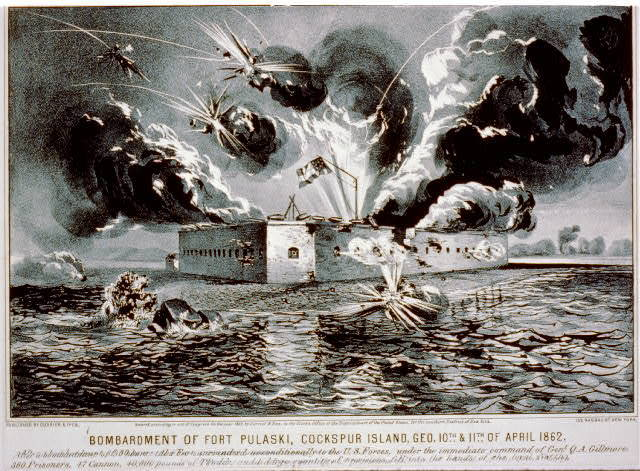 Bombardment of Fort Pulaski, Cockspur Island, Geo. 10th & 11th of April 1862