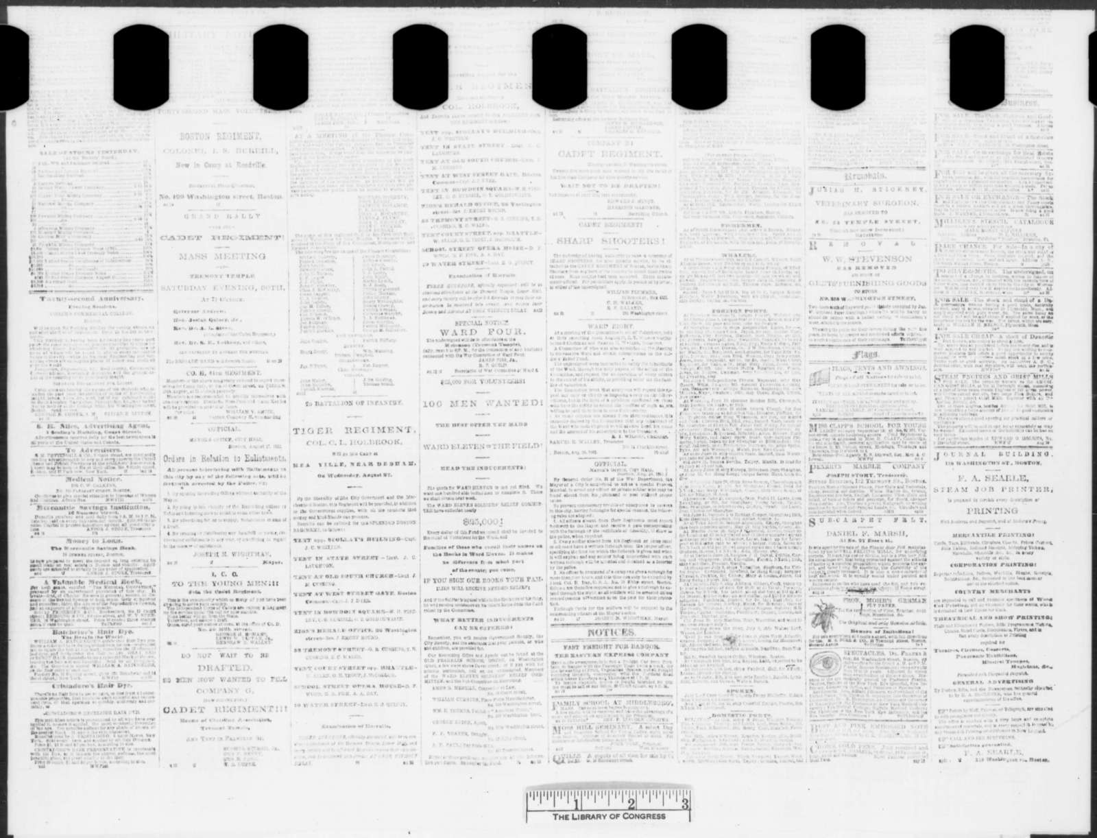 Boston Morning Journal, Friday, August 29, 1862  (Newspaper)