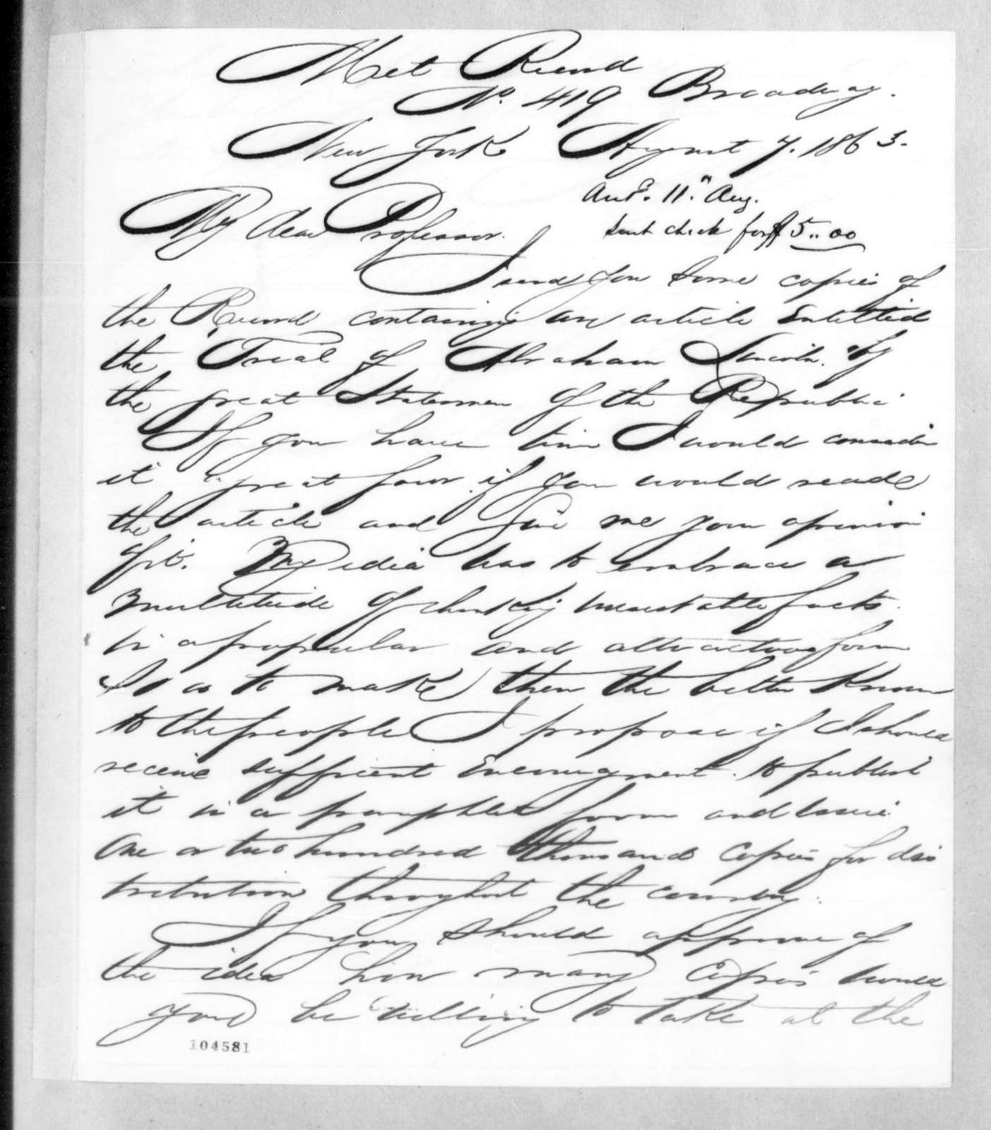 Bound volume---13 July 1862-16 May 1864