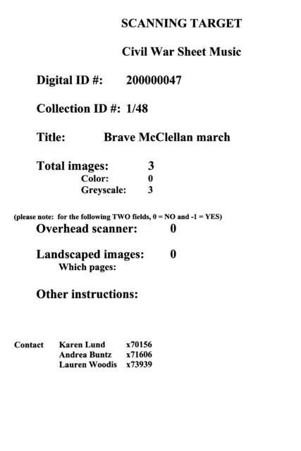 Brave McClellan march