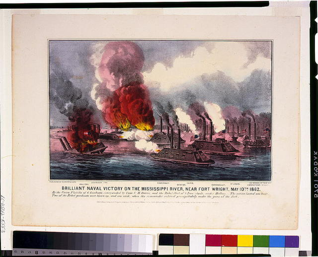 Brilliant naval victory on the Mississippi River, near Fort Wright, May 10th 1862
