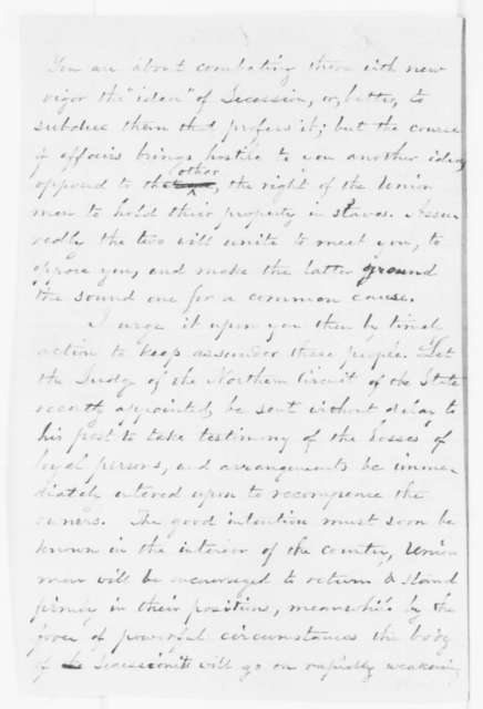 Buckingham Smith to William H. Seward, Thursday, October 09, 1862  (Emancipation of slaves owned by Unionists)