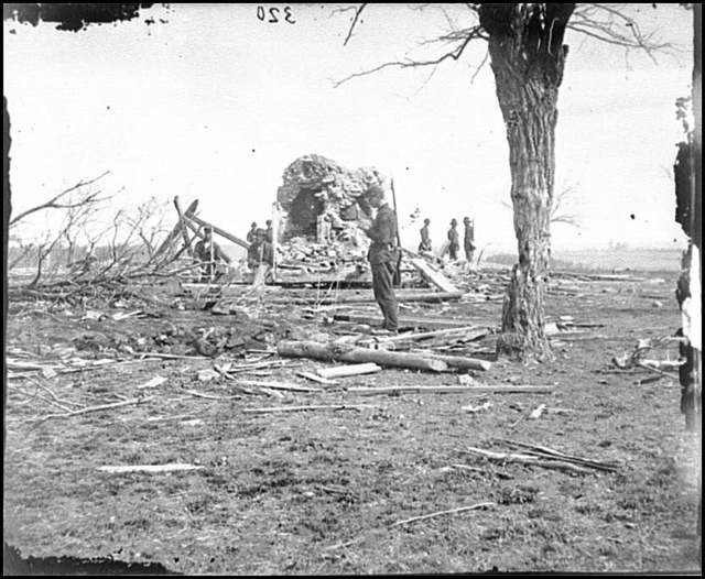 [Bull Run, Va. Ruins of Mrs. Judith Henry's house]