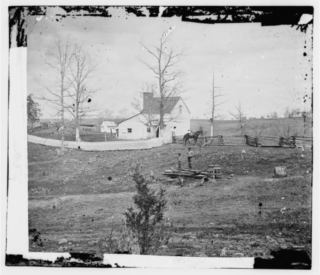 [Bull Run, Va. William N. Thornton's [i.e., Thornberry] house on the route to Sudley Ford]