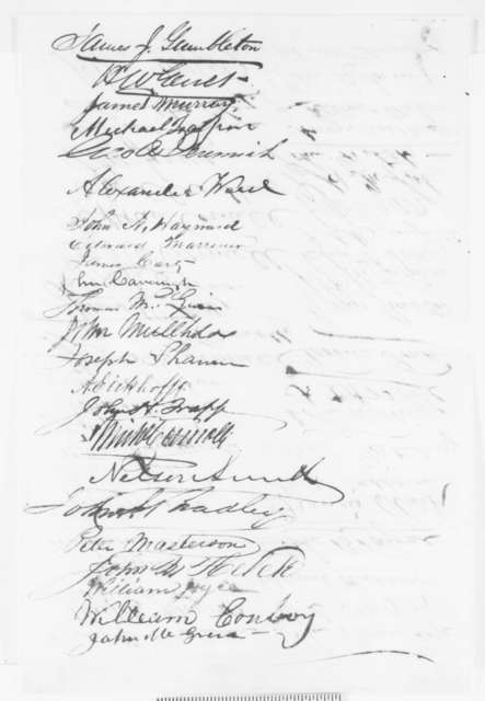 C. A. Stetson, et al. to Abraham Lincoln, Monday, November 10, 1862  (Petition on behalf of Isaac Fowler)