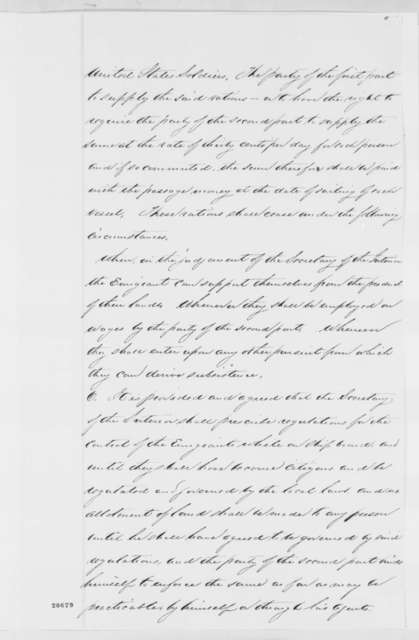 [Caleb B. Smith?], Thursday, September 11, 1862  (Draft of Agreement with Ambrose W. Thompson on Emigration of Freedmen to Granada)