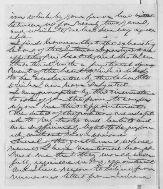 Caleb B. Smith to Abraham Lincoln, Wednesday, November 12, 1862  (Judicial appointment)