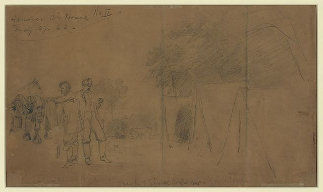 Camp of Signal corps nr. Yorktown