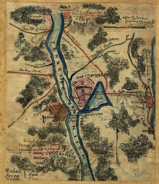 Capture of forts [sic] Henry ... Tennessee By U.S. Grant, January 1862.