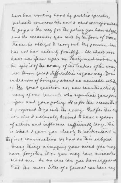 Carl Schurz to Abraham Lincoln, Wednesday, April 23, 1862  (Personal affairs)