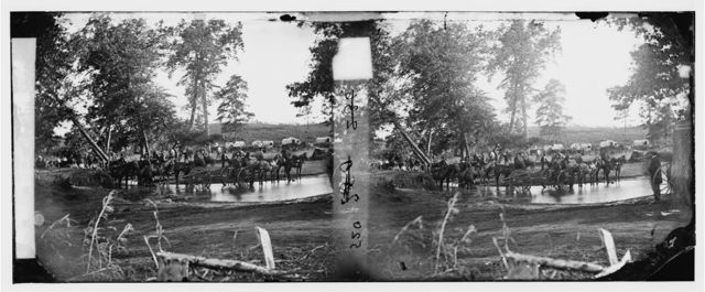 [Cedar Mountain, Va. Federal battery fording a tributary of the Rappahannock on the day of battle]