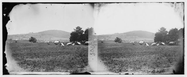 Cedar Mountain, Virginia. Panoramic view from center of battlefield of Cedar Mountain