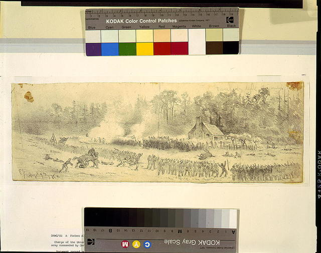 [Charge of Union troops of the left flank of the army commanded by Genl. Stonewall Jackson at Cedar Mountain