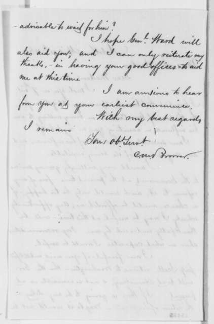Charles M. Brower to Mrs. S. Harlow, Friday, April 11, 1862  (Seeks office)
