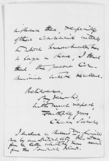 Charles Sumner to Abraham Lincoln, Saturday, October 11, 1862  (Relations with Hawaii)