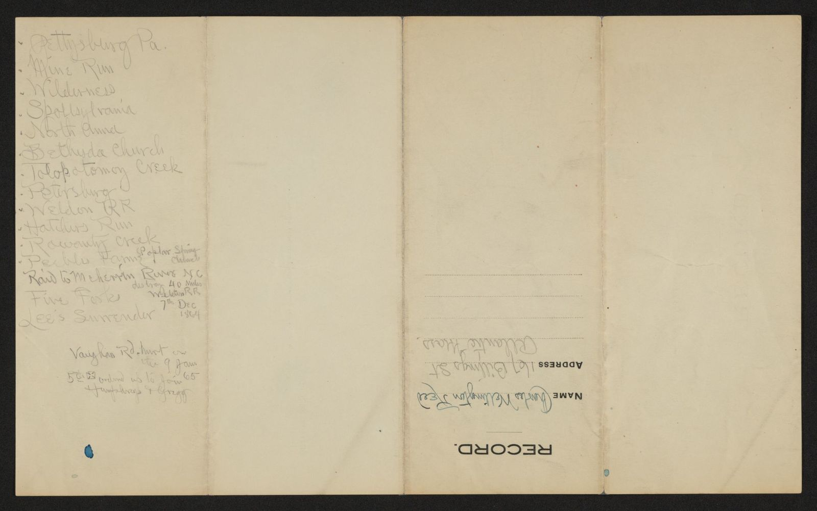 Charles Wellington Reed Papers: Miscellany,  1776-1899, undated