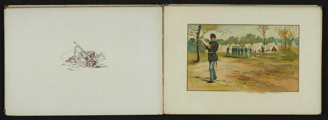 Charles Wellington Reed Papers: Printed matter, including books with illustrations by Reed; Bits of Camp Life, by C. W. Reed and Louis K. Harlow, c1888
