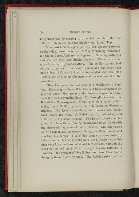 Charles Wellington Reed Papers: Printed matter, including books with illustrations by Reed; History of the 9th Mass. Battery, 1862-65, by Levi W. Baker, 1888